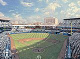 Thomas Kinkade yankee stadium painting