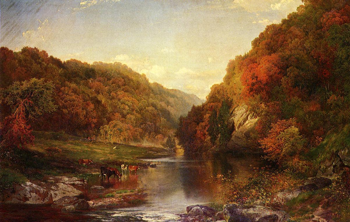 Thomas Moran Autumn on the Wissahickon