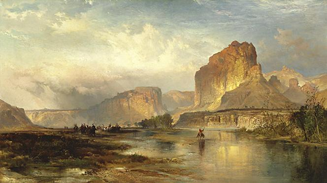 Thomas Moran Cliffs of Green River