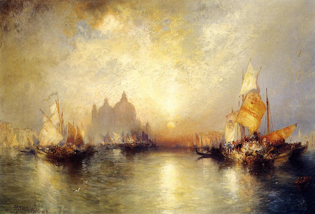 Thomas Moran Entrance To The Grand Canal Venice Painting