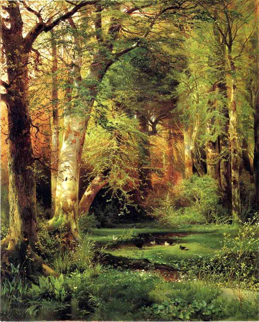 Forest Artwork Famous forest paintings:Famous Forest Paintings