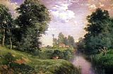 Famous River Paintings - A Long Island River