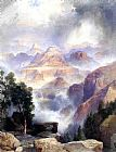Thomas Moran A Showrey Day, Grand Canyon painting