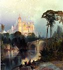 Thomas Moran Wall Art - Fantastic Landscape