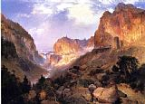 Thomas Moran Golden Gateway to the Yellowstone painting