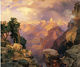 Famous Grand Paintings - Grand Canyon with Rainbows