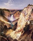Thomas Moran Great Falls of Yellowstone painting