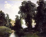 Thomas Moran The Bathing Hole,Cuernavaca,Mexico painting