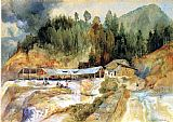 Thomas Moran Wall Art - Trojes Mine