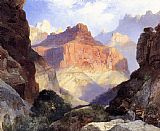 Thomas Moran Under the Red Wall,Grand Canyon of Arizona painting