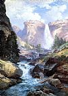 Famous Waterfall Paintings - Waterfall in Yosemite