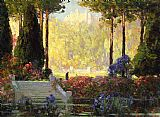 Tom Mostyn The Garden of the Castle painting