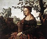 Van Canvas Paintings - Mary Magdalene By Jan van Scorel