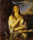 Unknown Artist Penitent Mary Magdalen By Titian painting