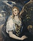 Famous Mary Paintings - Saint Mary Magdalene By El Greco