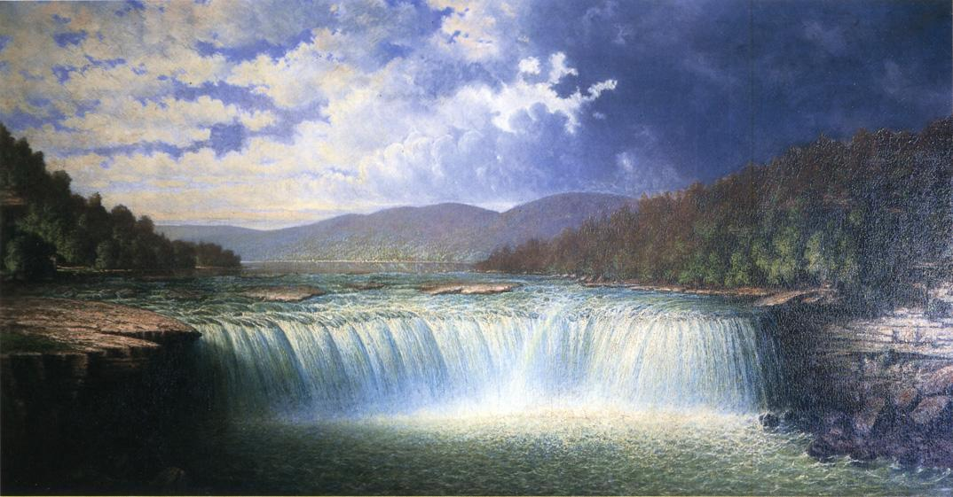 Unknown Artist Falls of the Cumberland River Whitley County Kentucky by Carl Christian Brenner