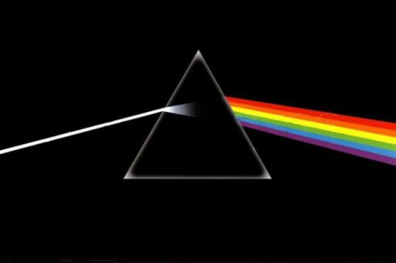Unknown artist pink floyd the dark side of the moon for Dark side of the moon mural