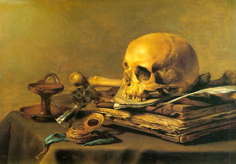 Unknown Artist Vanitas Still Life