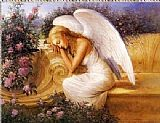 Angel Canvas Paintings - Angel at Rest by Tadiello