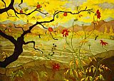 Famous Fruit Paintings - Apple Tree with Red Fruit by paul ranson