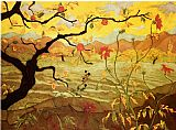 Famous Red Paintings - Apple Tree with Red Fruit
