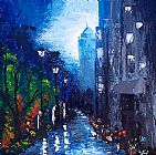 Unknown Artist BLUE RAIN painting