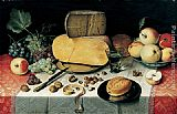 Van Canvas Paintings - Breakfast Stil Life Floris van Dyke