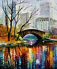 Unknown Artist Central Park painting