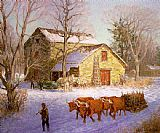 Unknown Artist Clime The Stone Mill Ice House painting