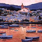 Unknown Artist Costa Brava Sunset painting