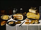Van Canvas Paintings - Floris van Schooten Still Life with a Ham
