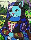 Cat Canvas Paintings - Mona cat