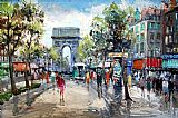 Famous Street Paintings - Paris Street Scene