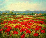 Famous Field Paintings - Poppy field