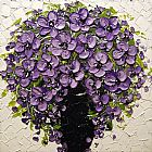 Unknown Artist Purple Floral painting