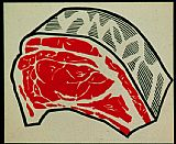 R Lichtenstein, Meat