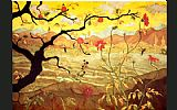 Unknown Artist Ranson Apple Tree with Red Fruit painting