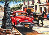 Famous Car Paintings - Roca Car