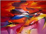 2010 Canvas Paintings - Sea Dream in Red VII Khun Suthirak