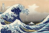 Unknown Artist The Great Wave of Kanagawa by Katsushika Hokusai painting