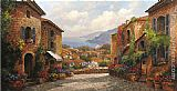 Famous Town Paintings - Town by Paul Guy Gantner