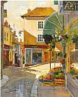 Famous Village Paintings - cobblestone village by marilyn simandle