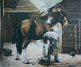 Unknown Artist horse painting