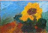 Unknown Artist sunflower I painting