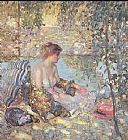 Unknown Artist sylvan dell by richard miller painting