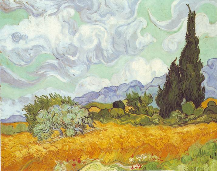 Vincent van Gogh Cornfield with Cypresses