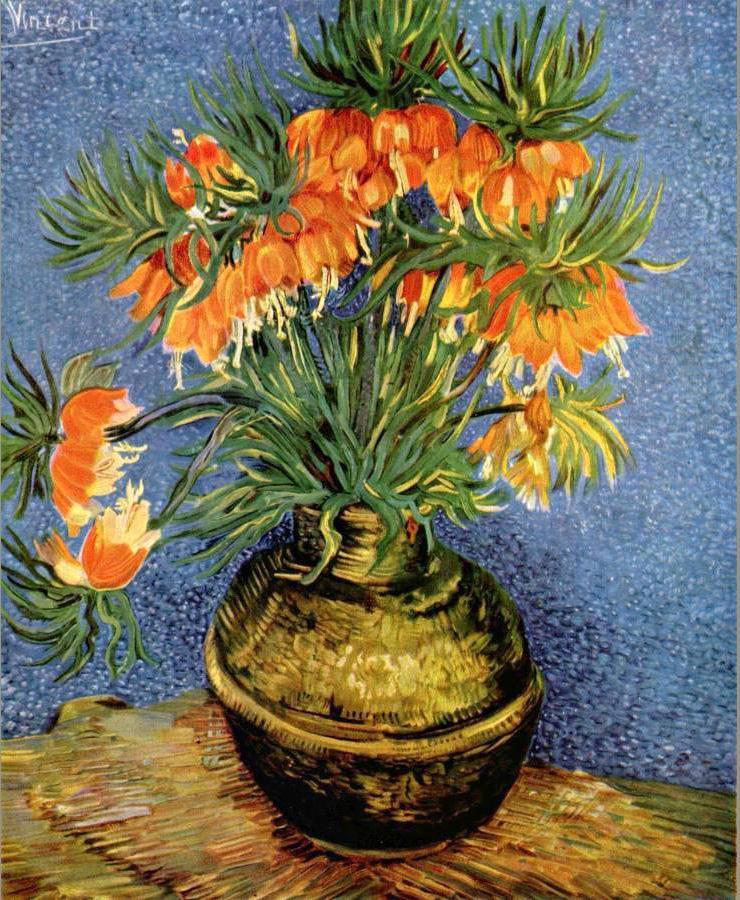 Van Gogh Flower Vase Vase And Cellar Image Avorcor