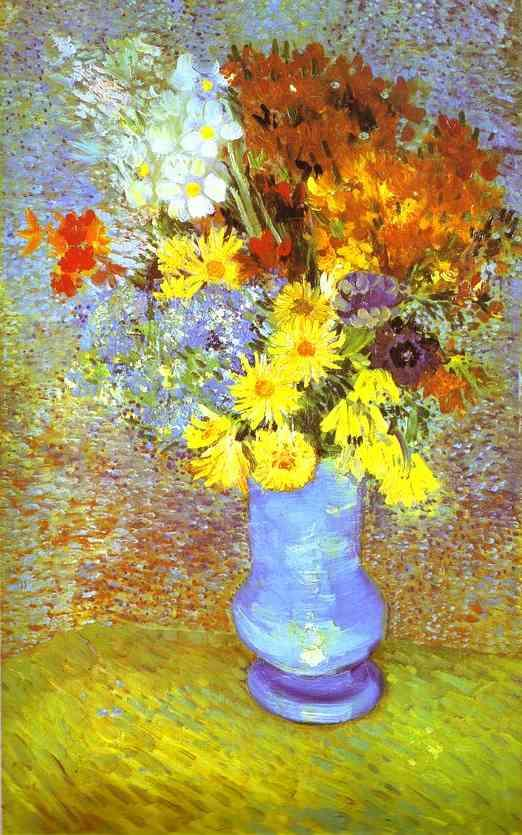 Vincent van Gogh Vase with Daisies and Anemones