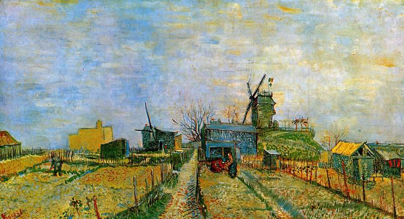 Vincent van Gogh Vegetable Gardens in Montmartre 2