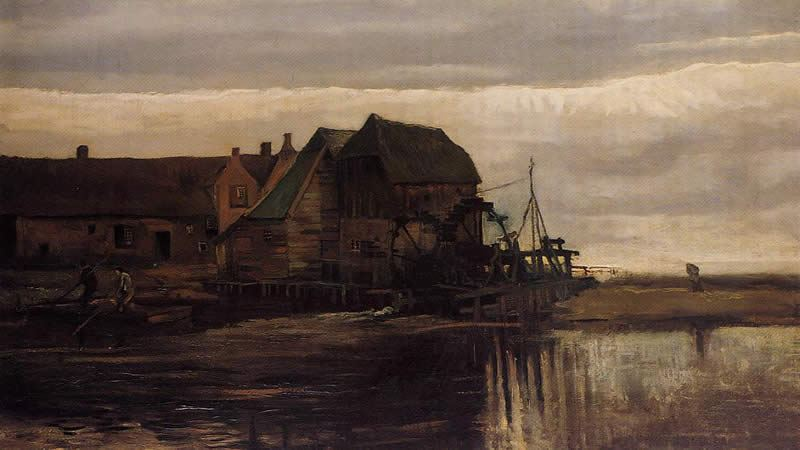Vincent van Gogh Watermill at Gennep
